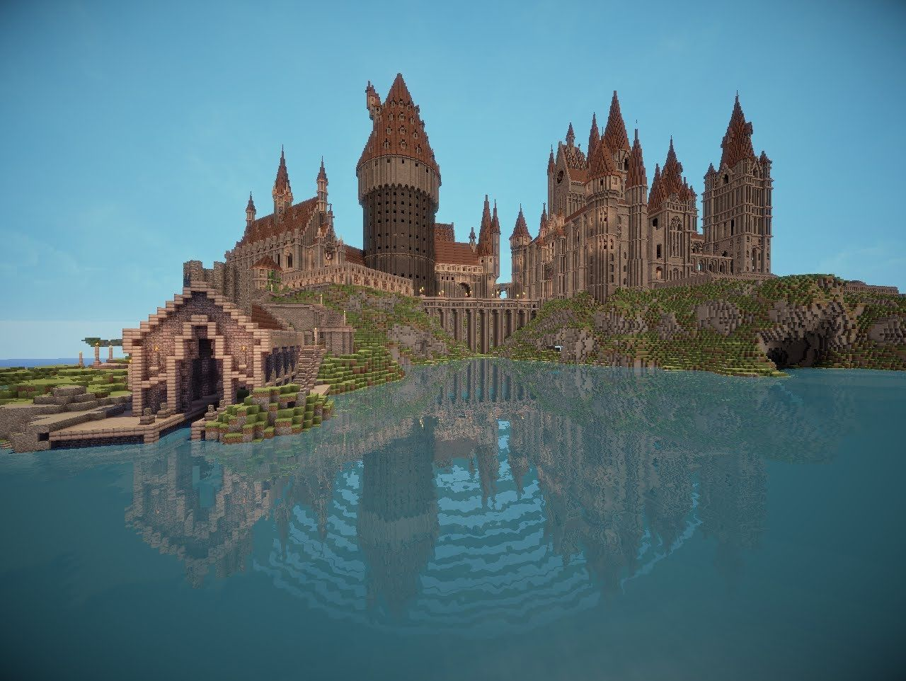 The Best Hogwarts Ever Made In Minecraft Mrkaspersson Xd Its So Awesome Minecraft Castle Blueprints Hogwarts Minecraft Minecraft Castle