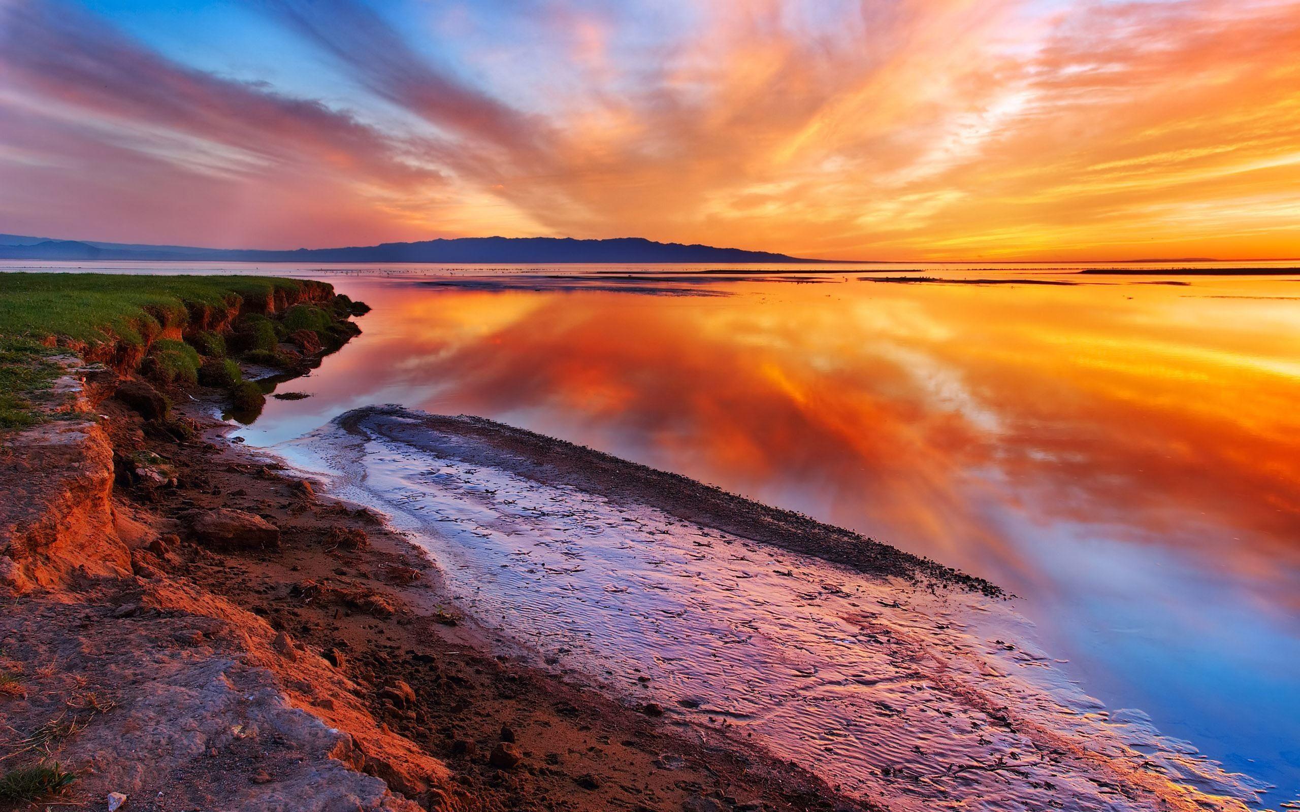 Sunset Over Kawaguchi Lake Japan Hd Wallpaper Imgprix Com High Definition Wallpapers An Ocean Landscape Landscape Wallpaper Beautiful Landscape Wallpaper