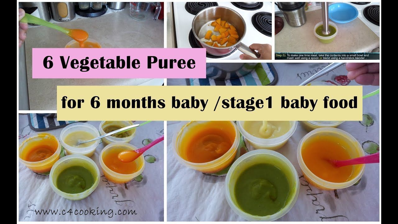6 Vegetable Puree for 6 months baby   Baby food recipes ...