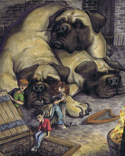 Image result for harry potter through the trapdoor art