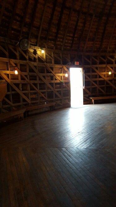 Inside Round Barn in Arcadia Oklahoma on Rt66 built in 1898