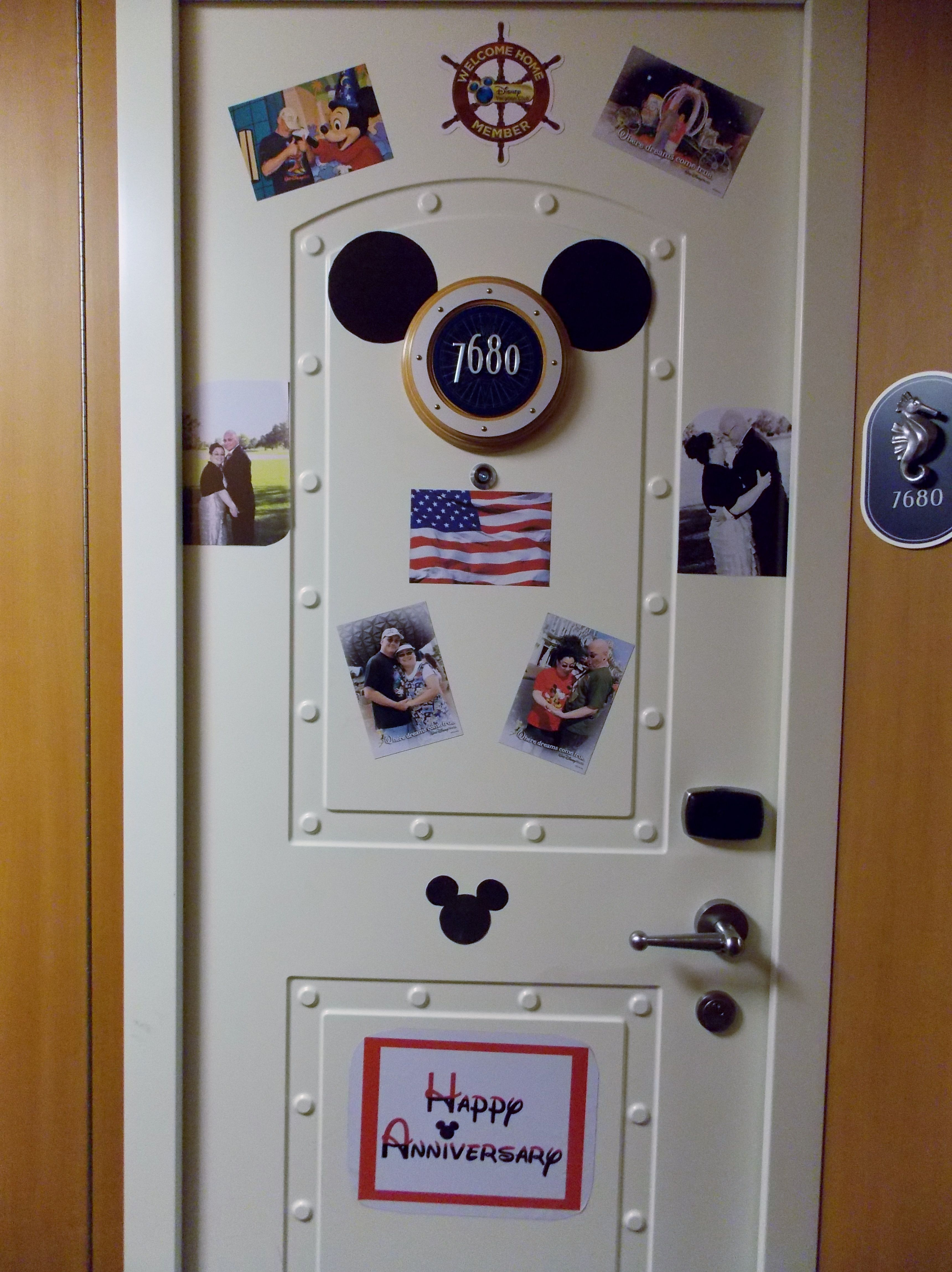 First Disney Cruise It Was Also Our 25th Wedding Anniversary We Decorated Door