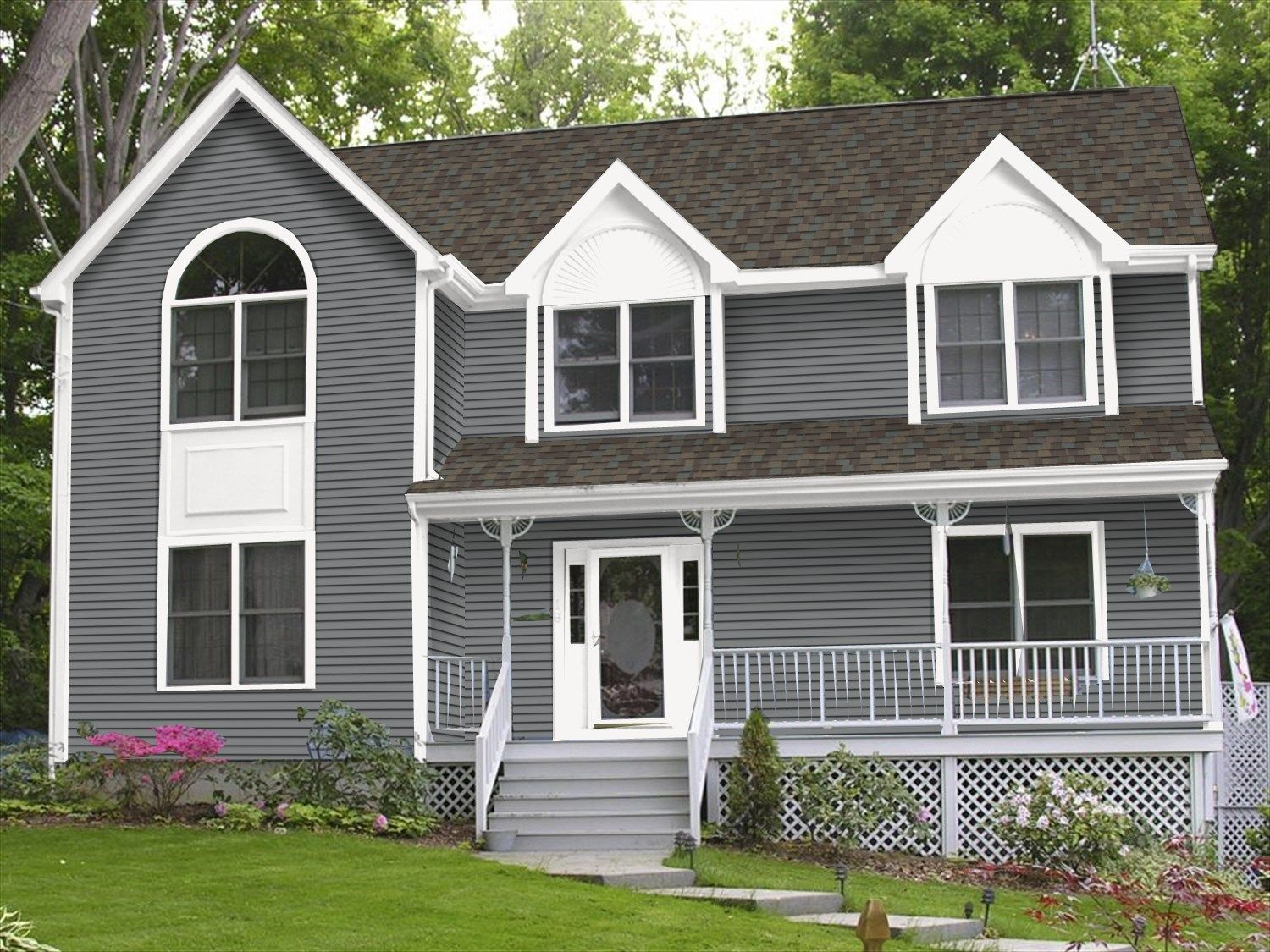 Certainteed Charcoal House Siding Exterior House Renovation House Exterior