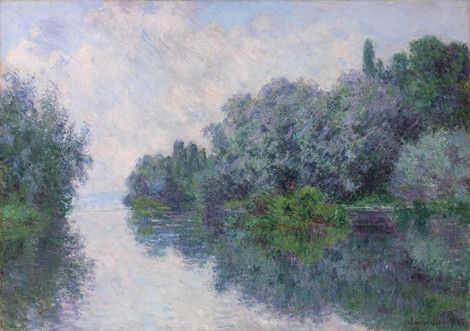 Claude Monet, The Seine at Giverny on ArtStack #claude-monet #art