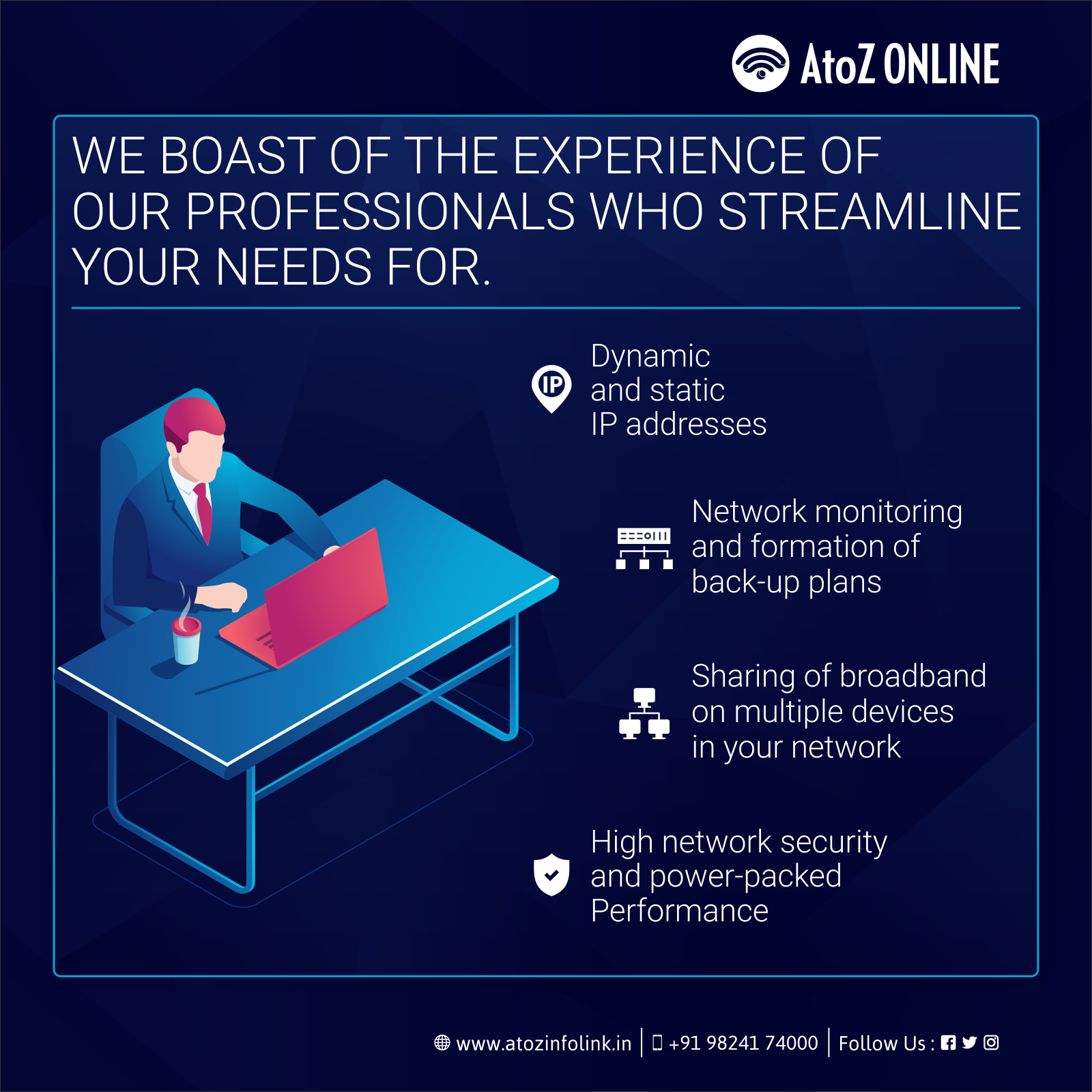 We Boast Of The Experience Of Our Professionals Who Streamline Your Needs For Dynamic And Static Ip Addre Internet Plans Internet Providers Network Monitor