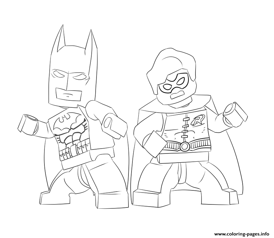 Batman And Robin Lego Coloring Pages Printable Book To Print For Free Find More Online Kids Adults Of