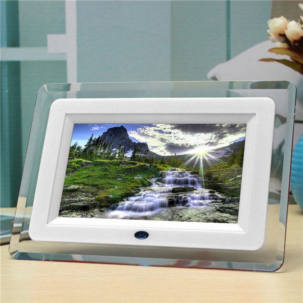 7 Inch LCD Digital LED Light Photos Movies Frame MP3 MP4 Player ...