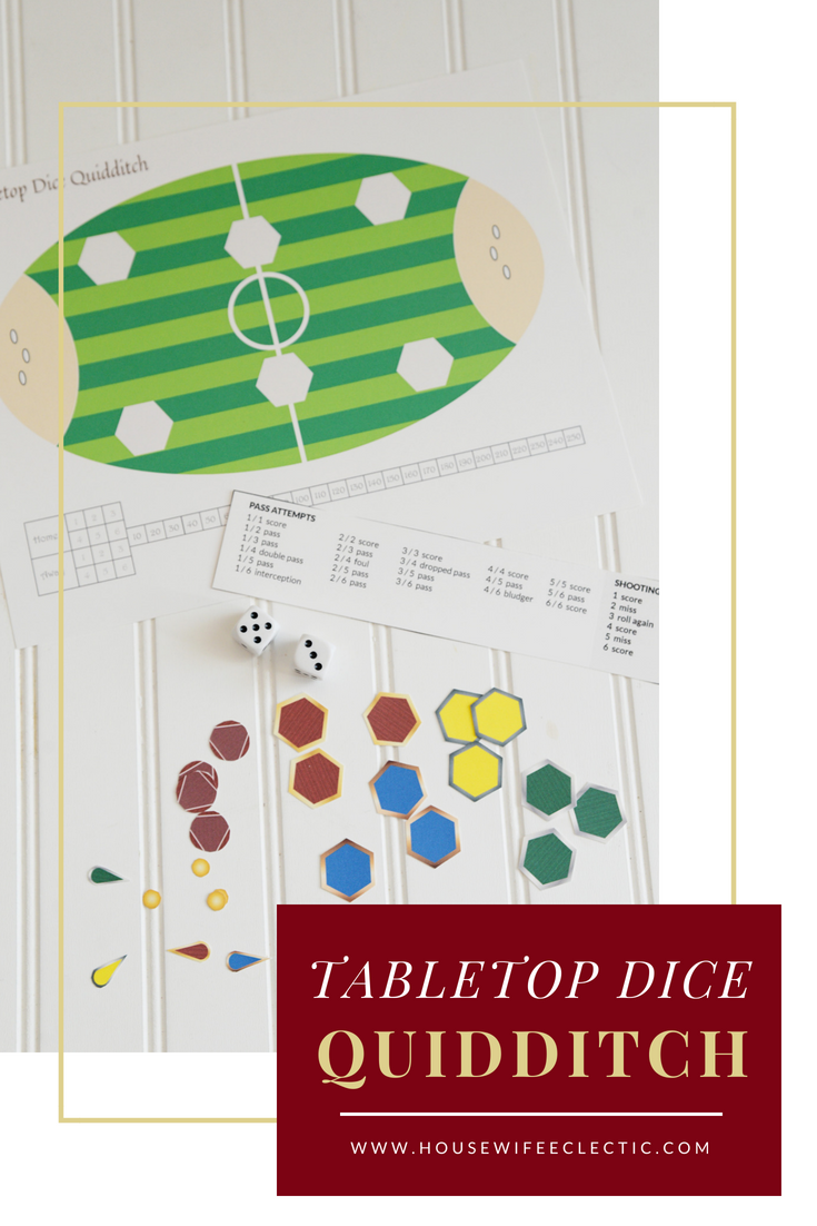 Quidditch Tabletop Dice Game for Harry Potter Fans
