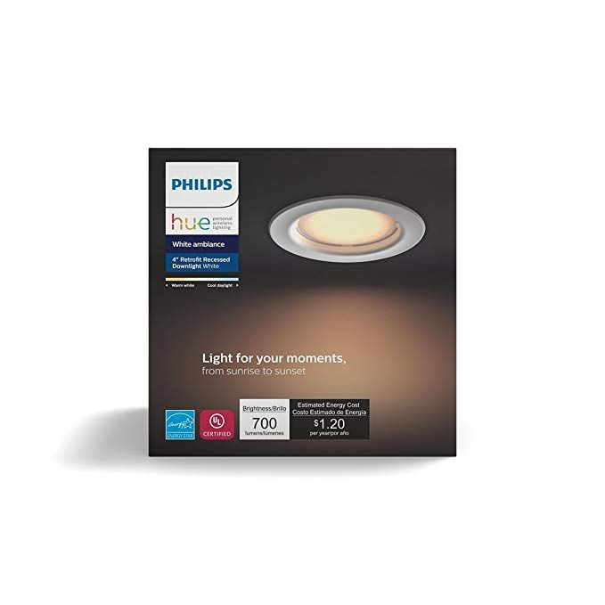 Philips Hue White Ambiance Dimmable LED Smart Retrofit