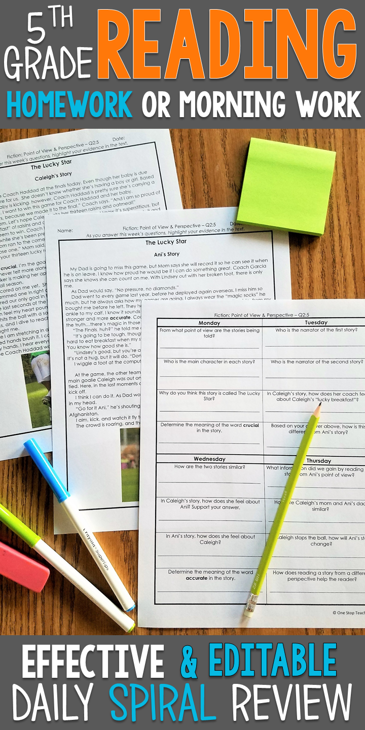 5th Grade Reading Comprehension Spiral Review Quizzes Constructed Responses 5th Grade Reading Reading Comprehension Resources Reading Homework [ 1440 x 720 Pixel ]