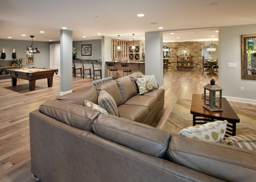 Toll Brothers The Finished Basement In The Duke Lexington Model Is Mesmerizing Basement Design Plans Model