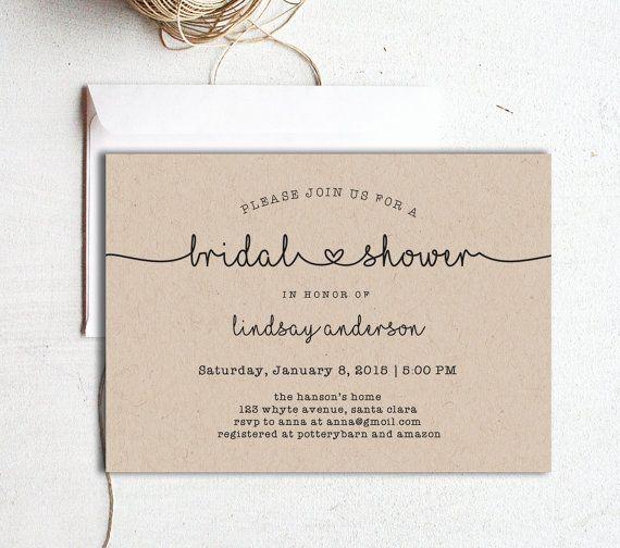 bridal shower invitation  printable bridal shower template