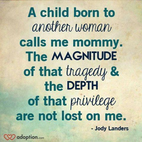 Quotes About Adoption Unique Jody Landers Quote  Adoption …  Adoption…