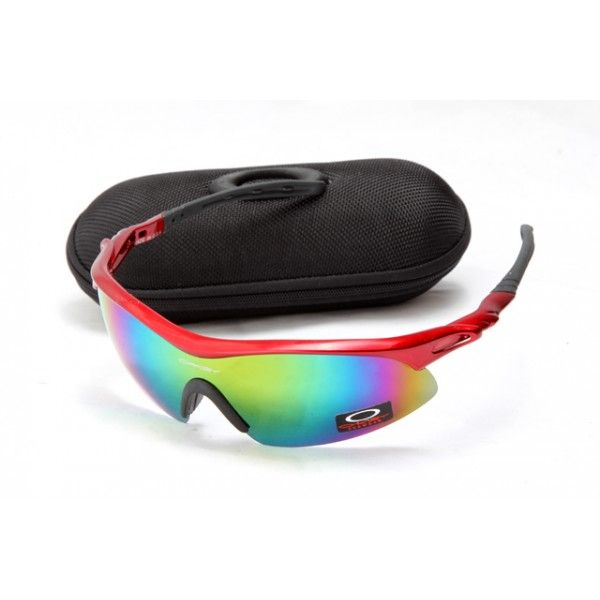 2106 New Style Men's Sunglasses Oakley M Frame Sunglasses Red Frame  Multicolor Lens with Sunglasses Cases