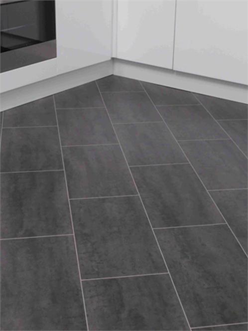 8mm Senia Tile Black Laminate Flooring Tile Look Flooring