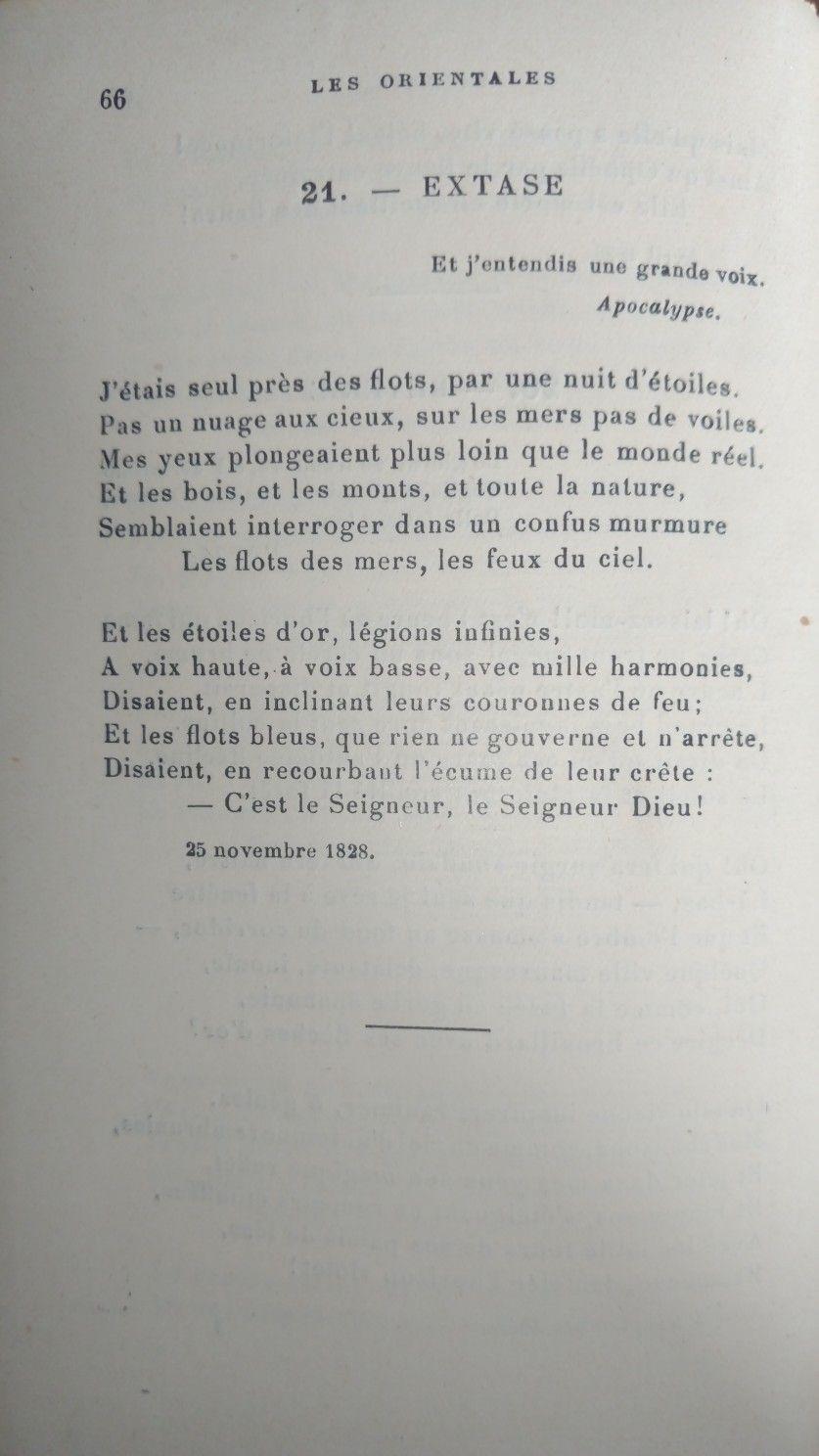 Victor Hugo Extase Poems Victor Hugo Poetry