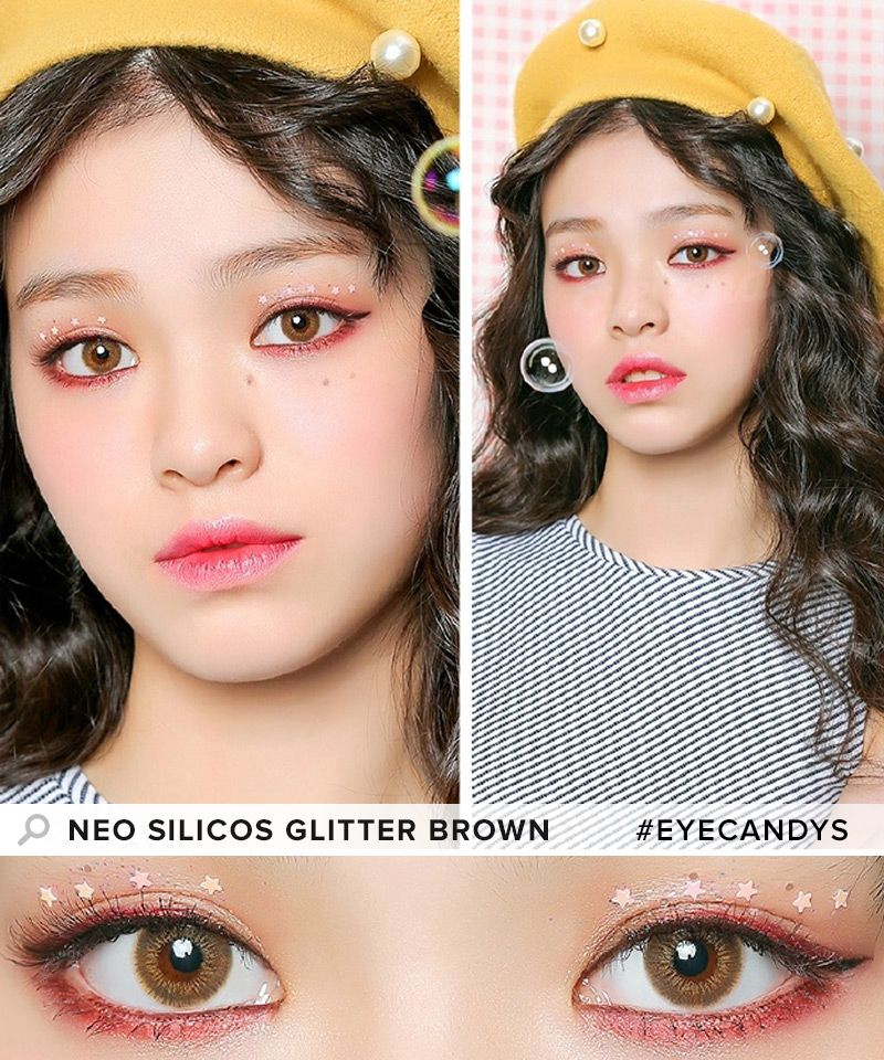 neo silicos glitter brown a touch of sparkle to your eyes is all you