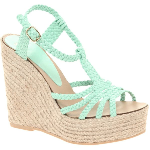 Asos Hammock Leather Espadrille Wedges ($59) ❤ liked on Polyvore featuring shoes, sandals, wedges, heels, zapatos, platform wedge sandals, wedge heel sandals, ankle strap wedge sandals, platform espadrille sandals and wide width wedge sandals