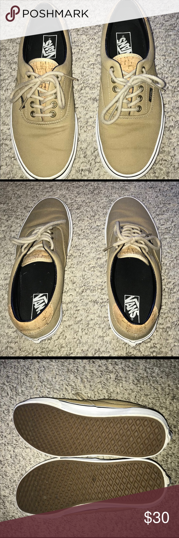 175c5d35813fc0 Vans Unisex Era 59 Cork Twill Incense Skate Shoe Great condition. Beige  with cork tongue and upper back. Classic Vans skate shoe great for casual  wear.