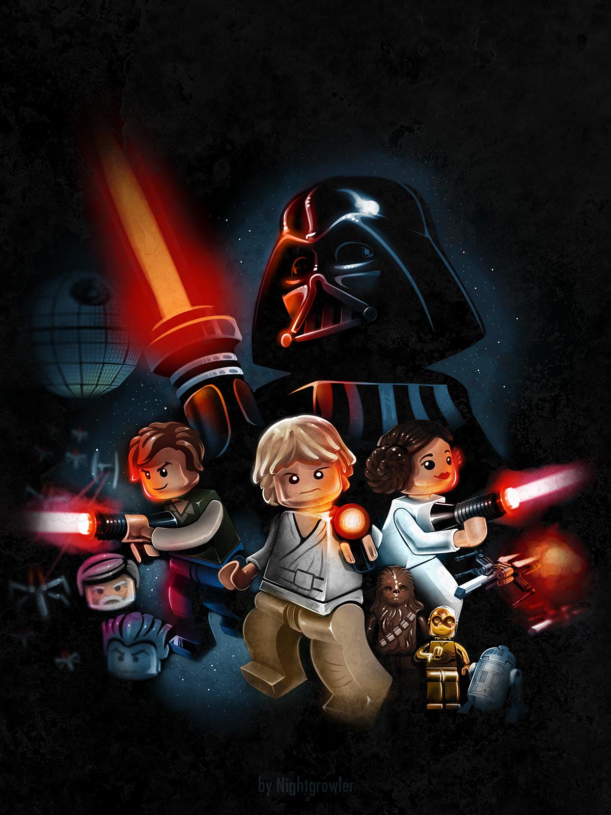 Lego Star Wars Art By Night Growler Festa Star Wars Star Wars
