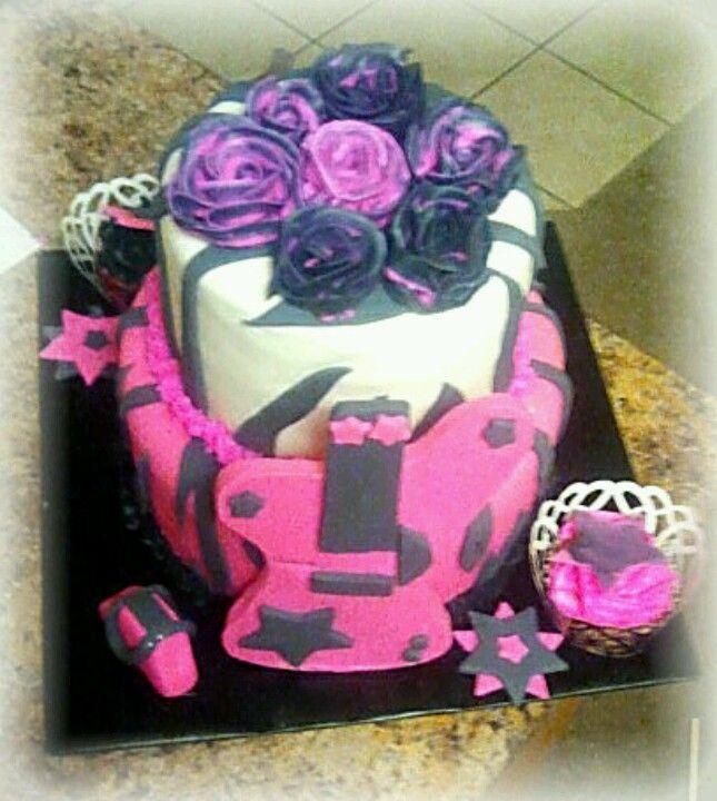Rocker girl guitar cake