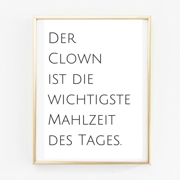 Poster A4 Clown. Küchenposter  von PAP-SELIGKEITEN – Poster, Drucke, Postkarten auf DaWanda.com #4adventbilder