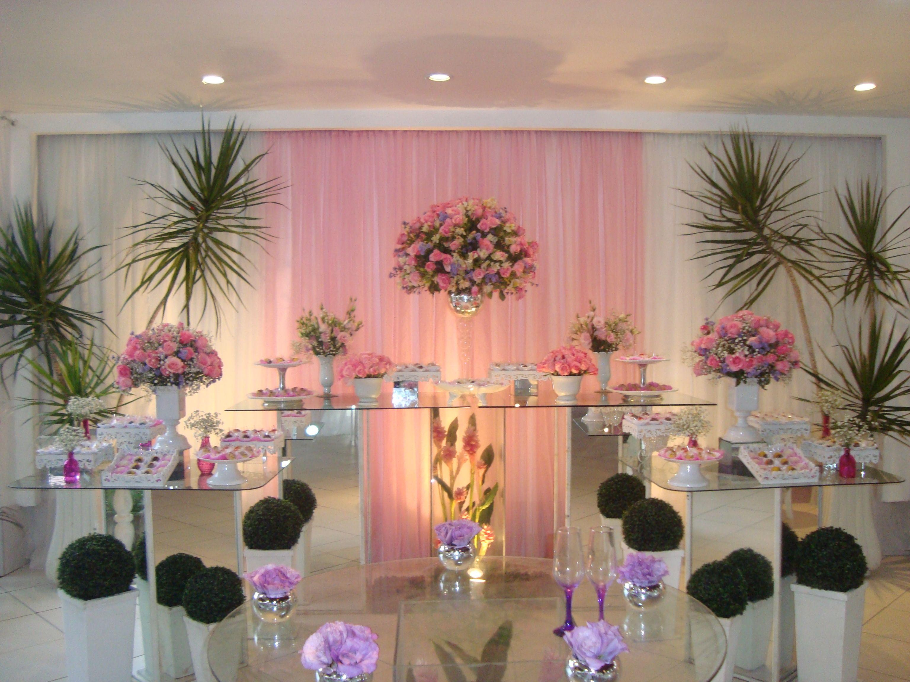 Decora??o de casamento rosa e branco. Em alta no ramo de decora??o ...