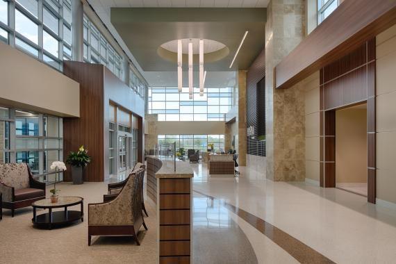The Custom Terrazzo Flooring Leads Visitors Through The