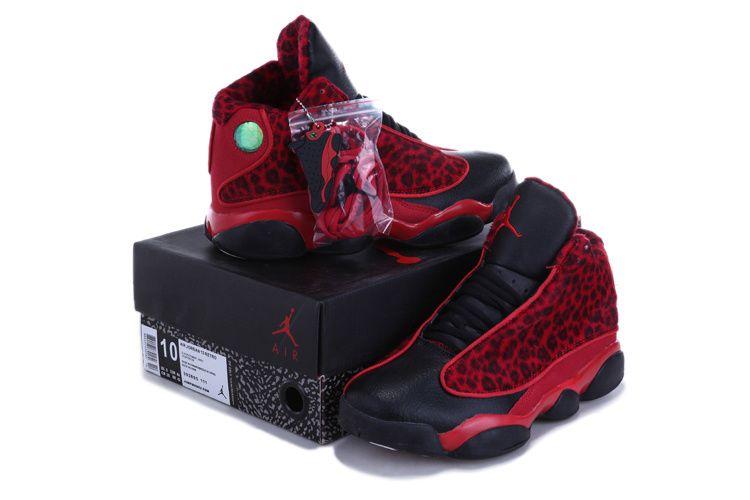 air jordan 13 new colors red leopard black white shoes aj 1ajn130010 us8 - Colorful Jordan Shoes