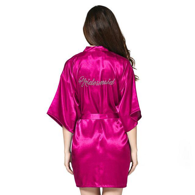 14179f69f0e84 Bridesmaid robes Sleepwear Robe Wedding Bride Bridesmaid Robes ...