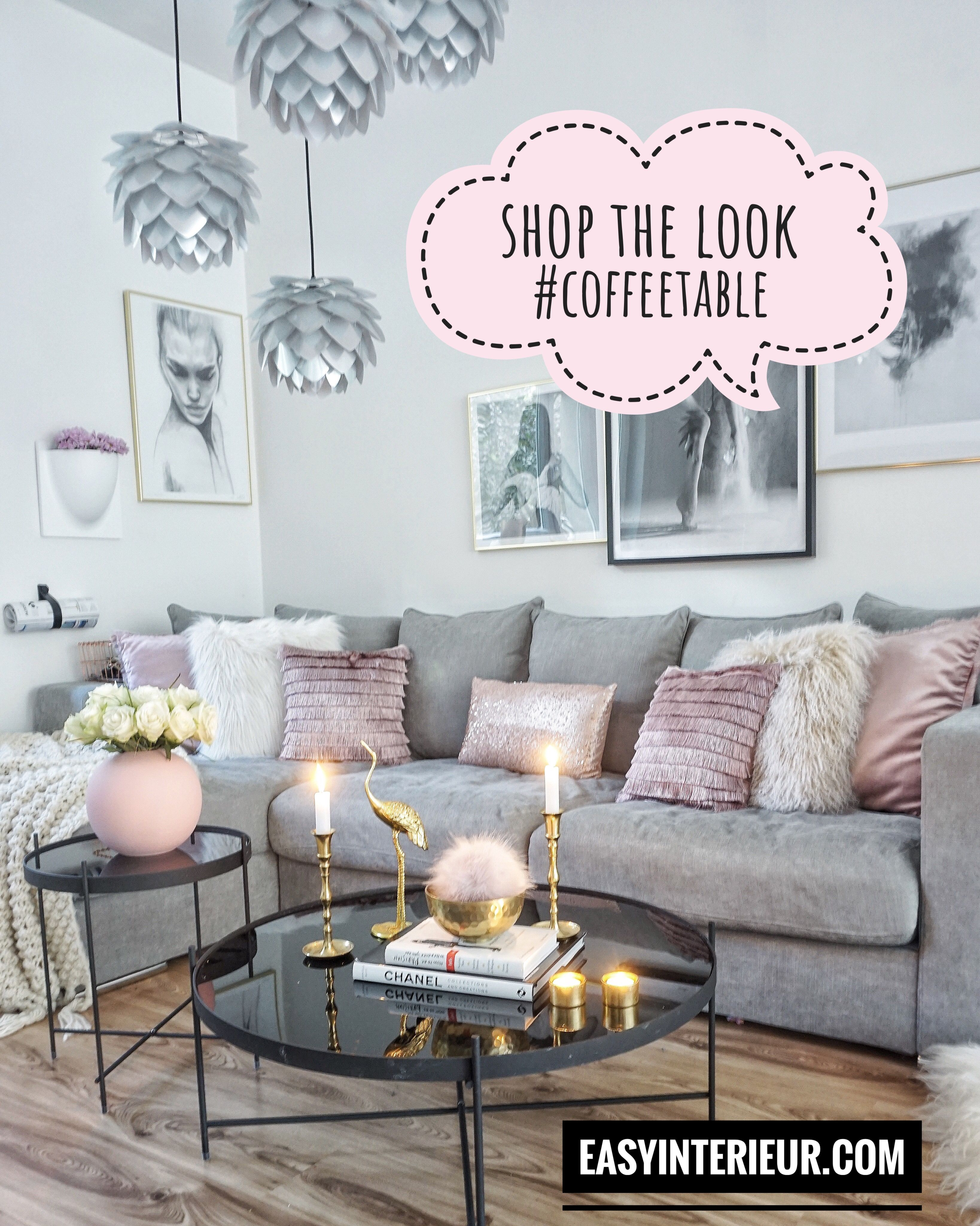 Deco Salon Gris Rose pinkerry pepper on home | living room decor apartment