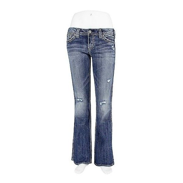 Silver Frances Stretch Jean ($65) ❤ liked on Polyvore