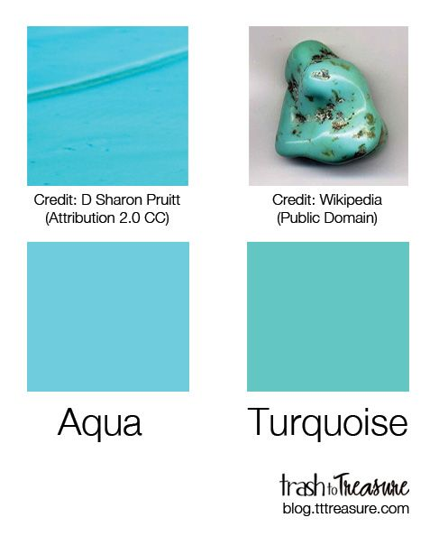 Turquoise And Aqua Colors