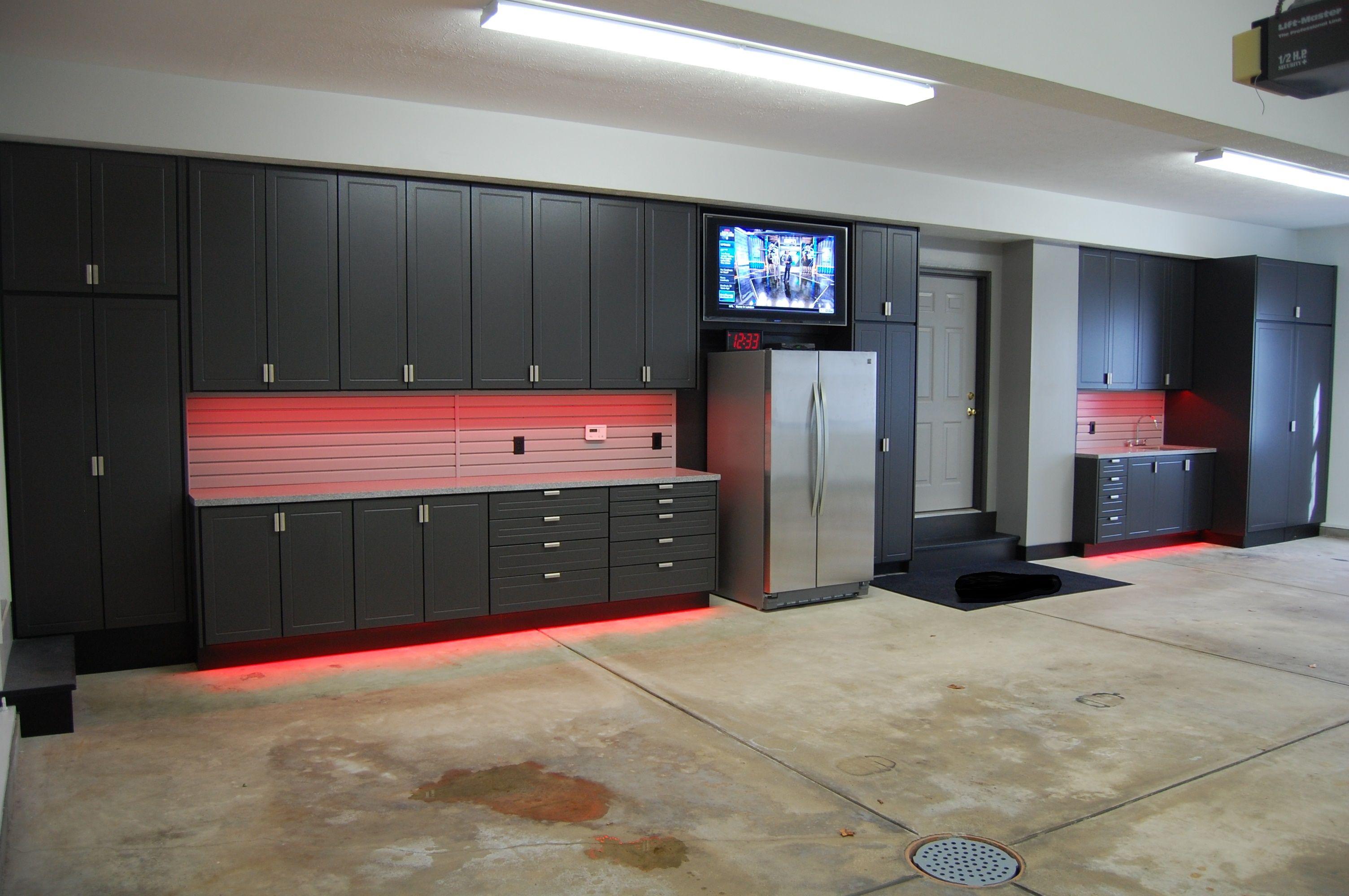Garage Design With Concrete Garage Floor And Garage Storage Or