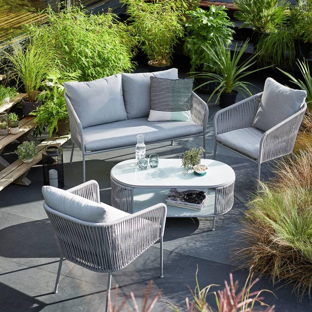 Buy Argos Home Skandi 4 Seater Sofa Set Patio Sets Argos Sofa Set Outdoor Sofa Sets Balcony Furniture [ 1000 x 1000 Pixel ]