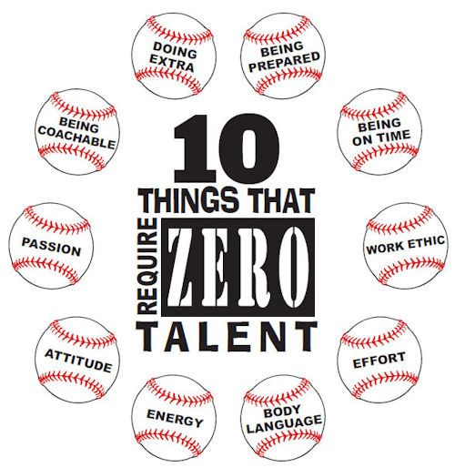 10 Things That Require Zero Talent Baseball T Shirt Br Choose Your