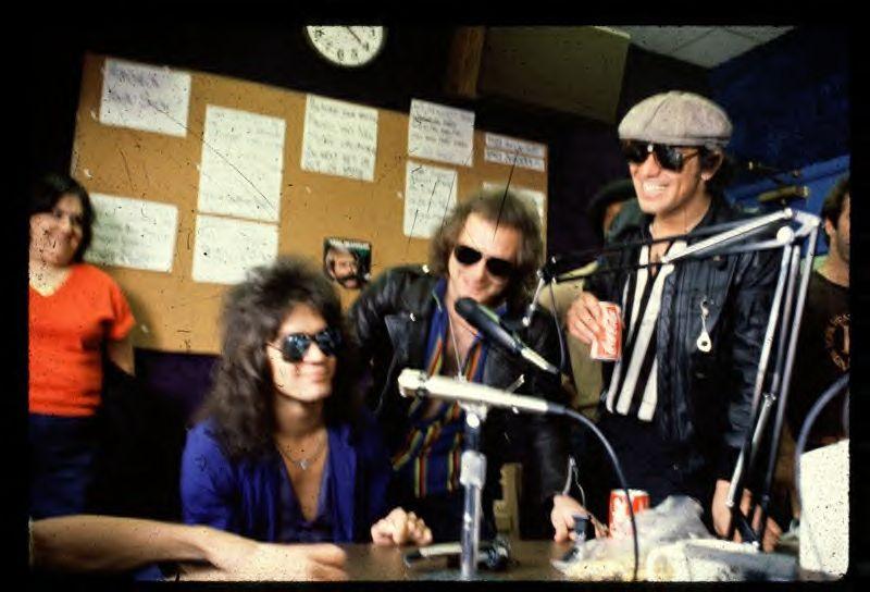 Radio station interview