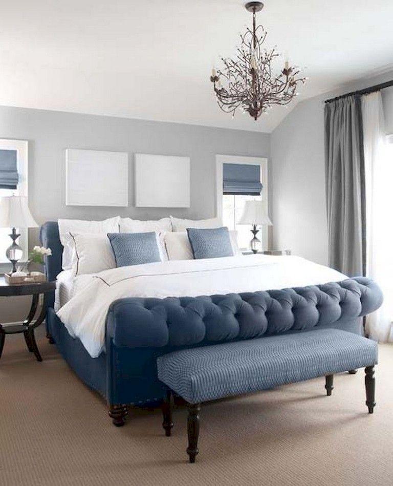 37+ Amazing Navy Master Bedroom Decor Ideas images