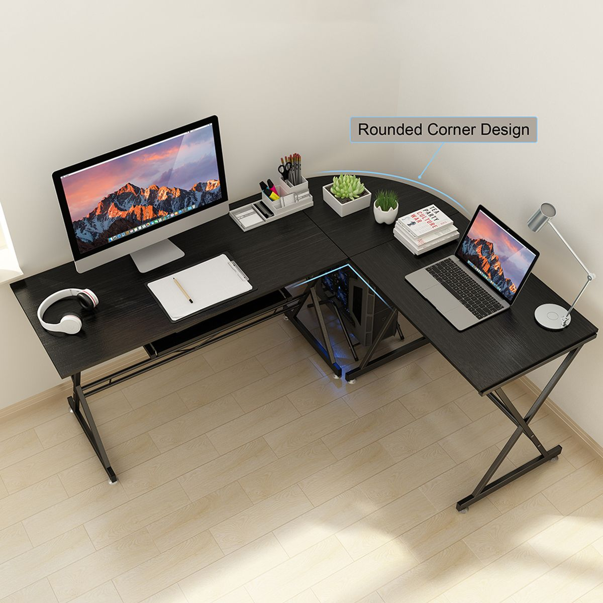 Home In 2020 L Shaped Corner Desk Home Office Computer Desk Pc