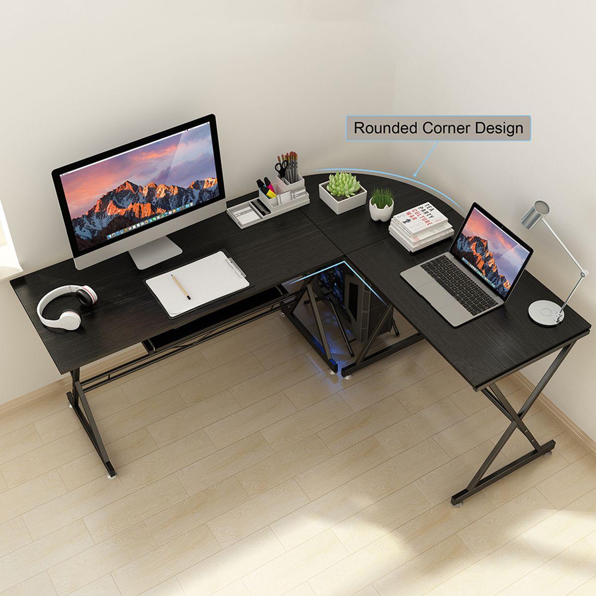 Free 2 Day Shipping Buy Gaming Desks Large Ergonomic Gaming Desk Computer Desk L Shaped Corner Computer Desk P In 2020 Pc Gaming Table Corner Computer Desk Pc Desk