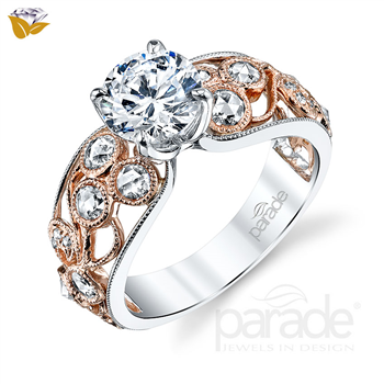 Parade Design 1/2 Ctw Diamond Semi-Mount Ring in 18K White