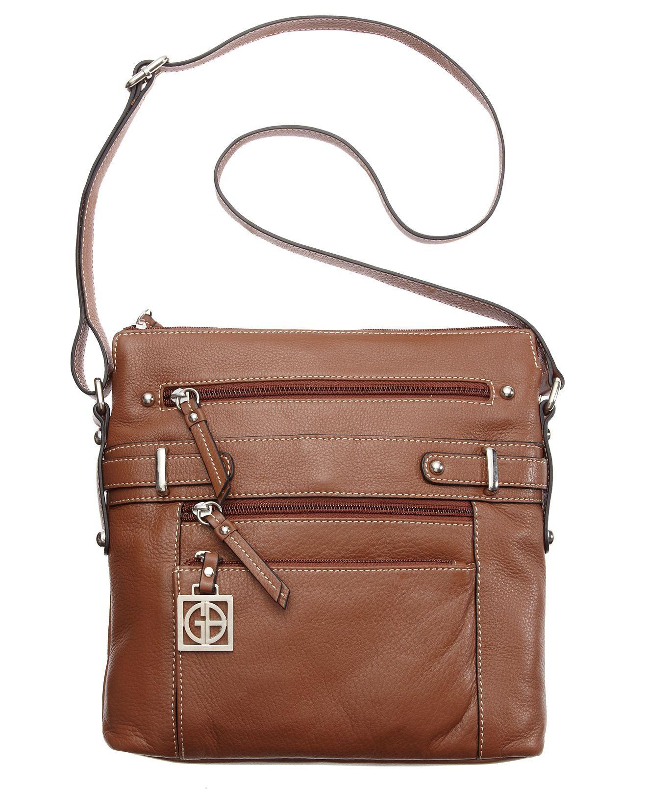 77d7fe101 Giani Bernini Handbag, Pebble Multi Zip Pocket Crossbody Bag - Crossbody &  Messenger Bags - Handbags & Accessories - Macy's