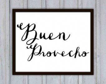 Hola mi Amor Spanish Print typography Love by theartofobservation #spanishkitchens