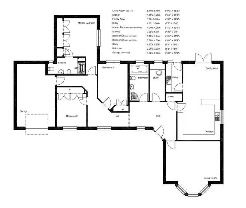 Bungalow floor plans uk google search self build Bungalows floor plans