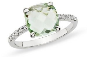 Green Diamond Engagement Ring Ringscladdagh
