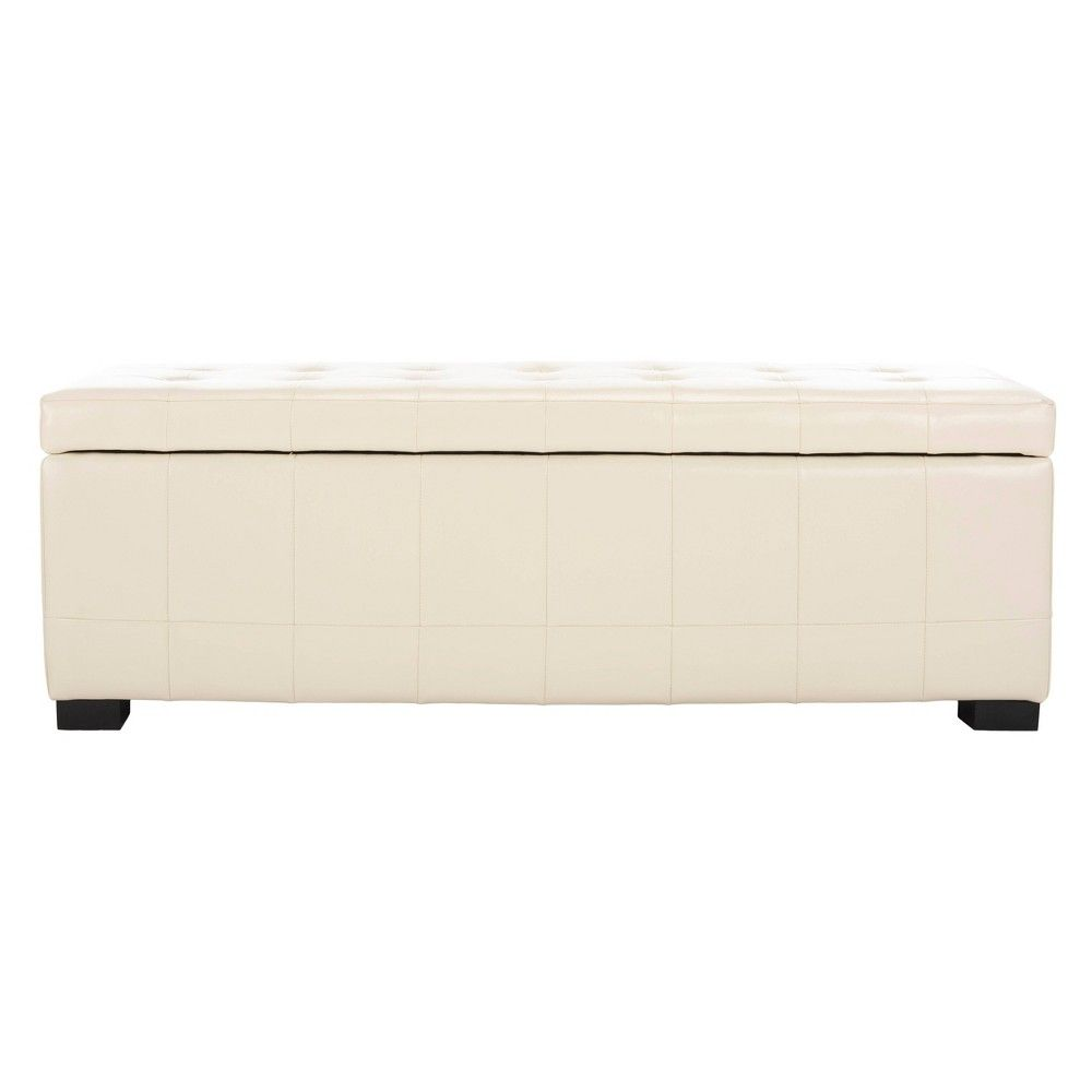 Manhattan Large Storage Bench White Safavieh Off White