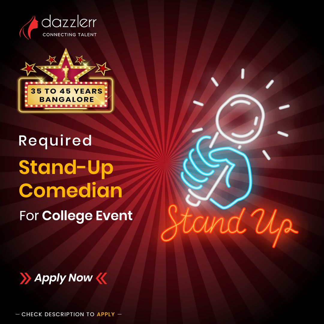 StandUp Comedian Required For College Event. . . We are