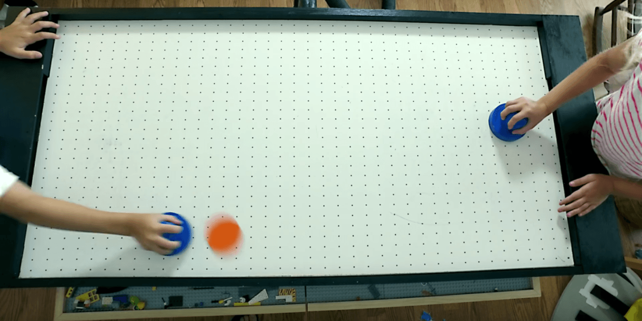 I Grew Up Playing A Ton Of Air Hockey So This Video From One Of Our Favorite Youtube Channels I Like To Make Stuff S Air Hockey Diy Pool Table Diy