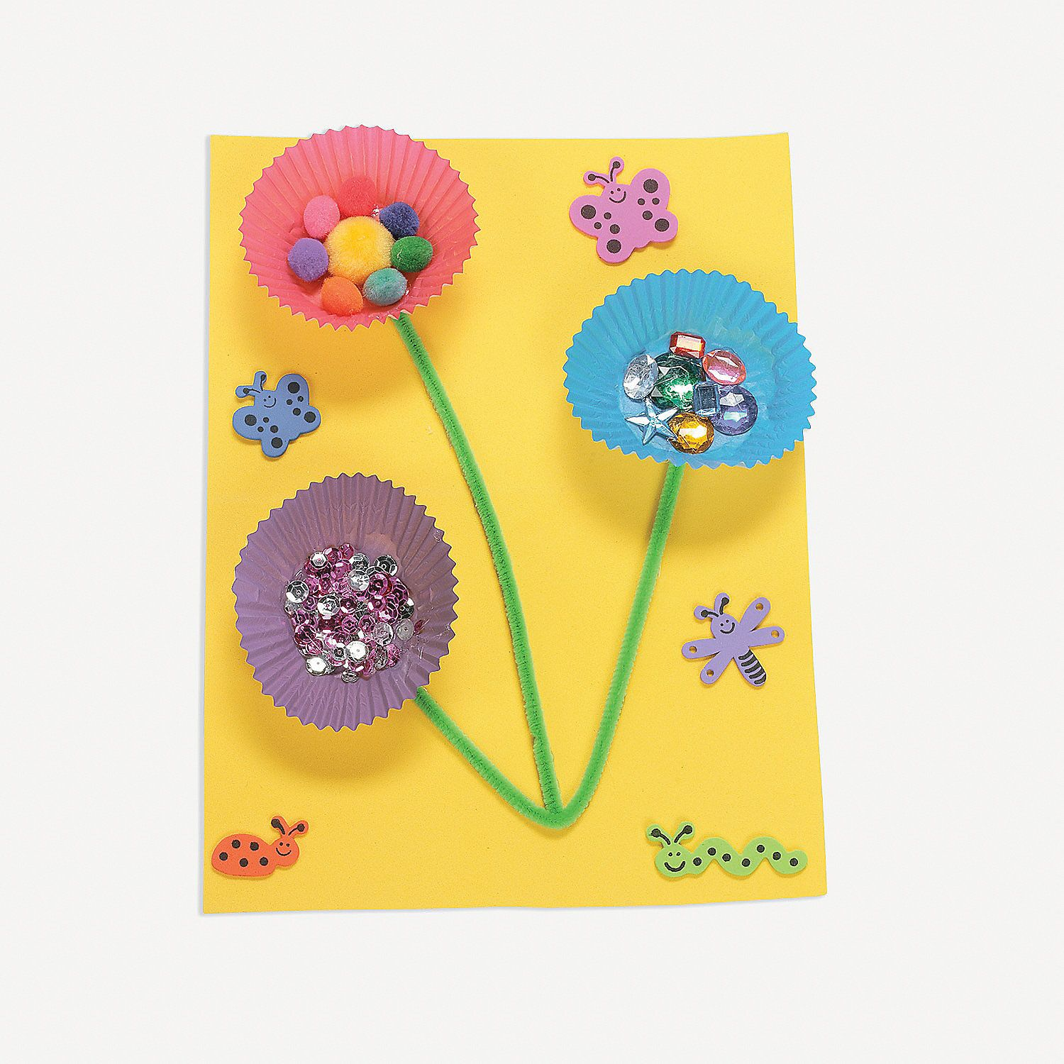 Featured 5 Spring Projects: Multi-Media Baking Cup Flowers