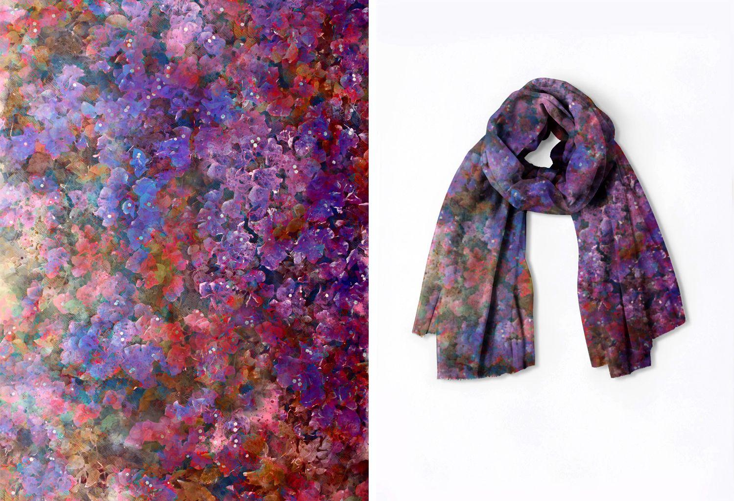 Oversized Merino Wool Scarf - Blue Sky Waters by VIDA VIDA XJfhLSjc